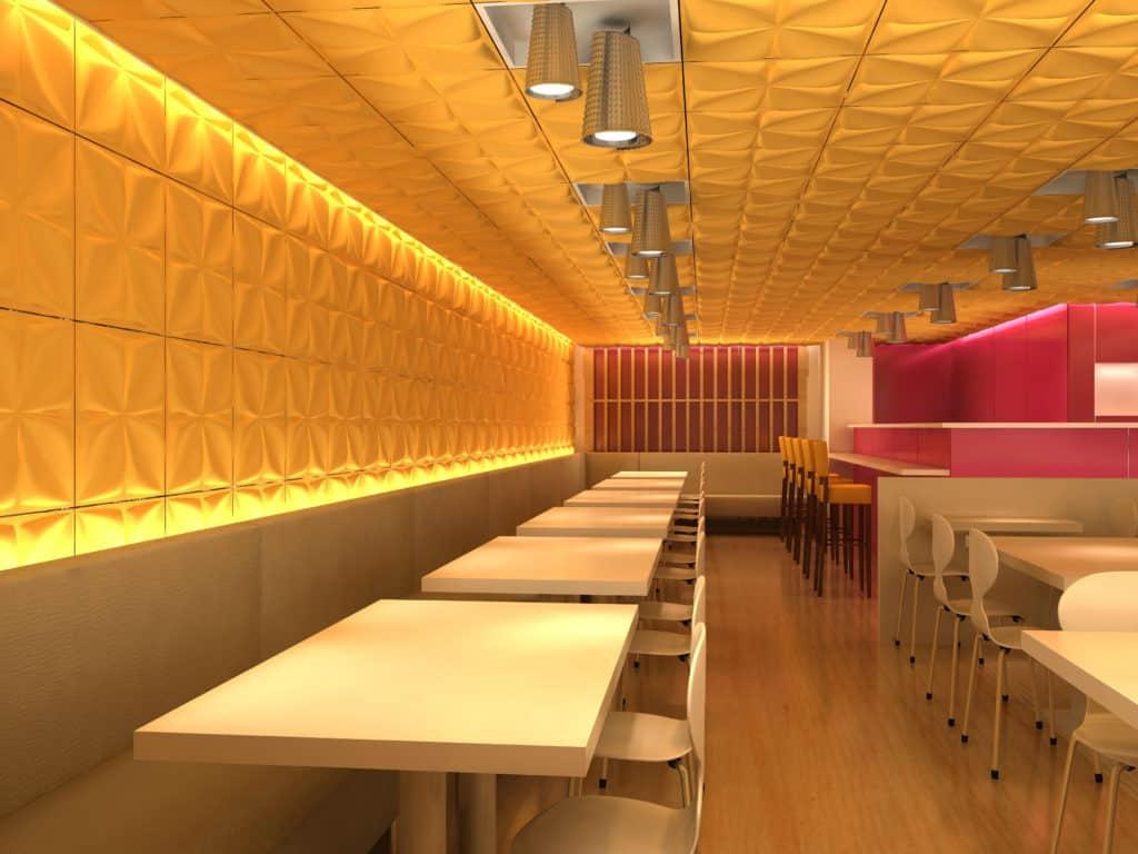 חיפוי קירות למסעדות