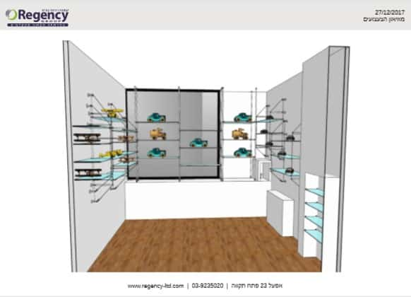 הדמייה תלת מימדית לחנות בבנייה